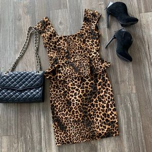 Leopard Peplum Dress